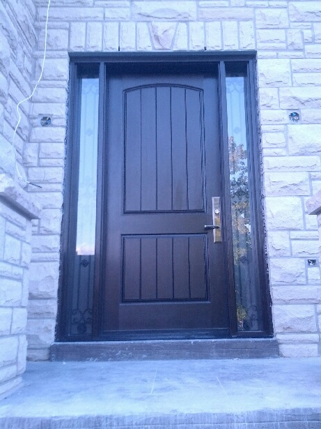 Fiberglass Door Exterior Door Rustic 2 Panel Front Door