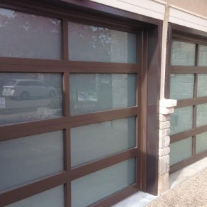 Modern Garage Doors with Door Lites installed in Toronto by modern-doors.ca