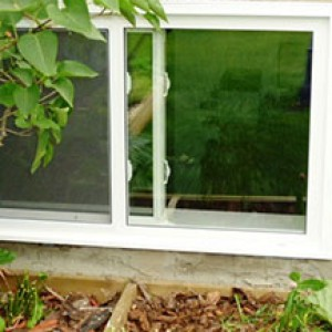 Basement Slider Window Installation by Windows and Doors Toronto