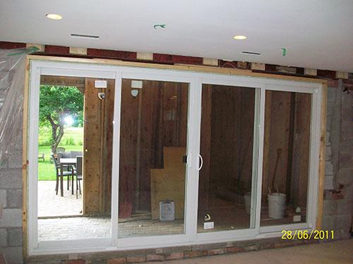 Installation of oversized Patio Doors and Windows in Etobicoke