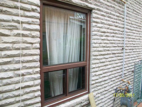 Window installation fix window with bottom single slider window