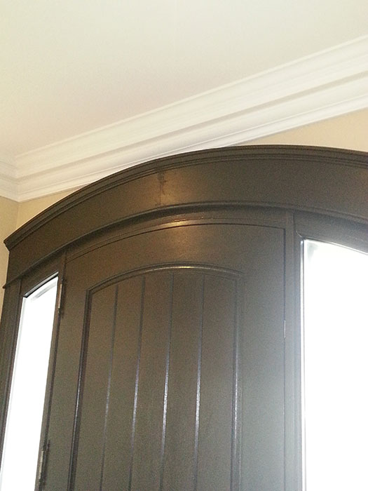 Arched Door with 2 Side Lites and Multi Point Locks Installed in Toronto by Windows and Doors Toronto
