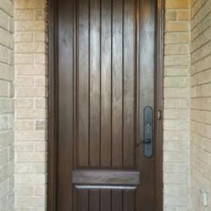 Rustic Fiberglass Exterior 2 Panel Door installed in Woodbridge by Windows and Doors Toronto