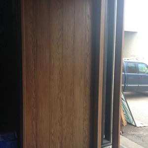 Rustic Woodgrain 8 Foot Door with Side Lite