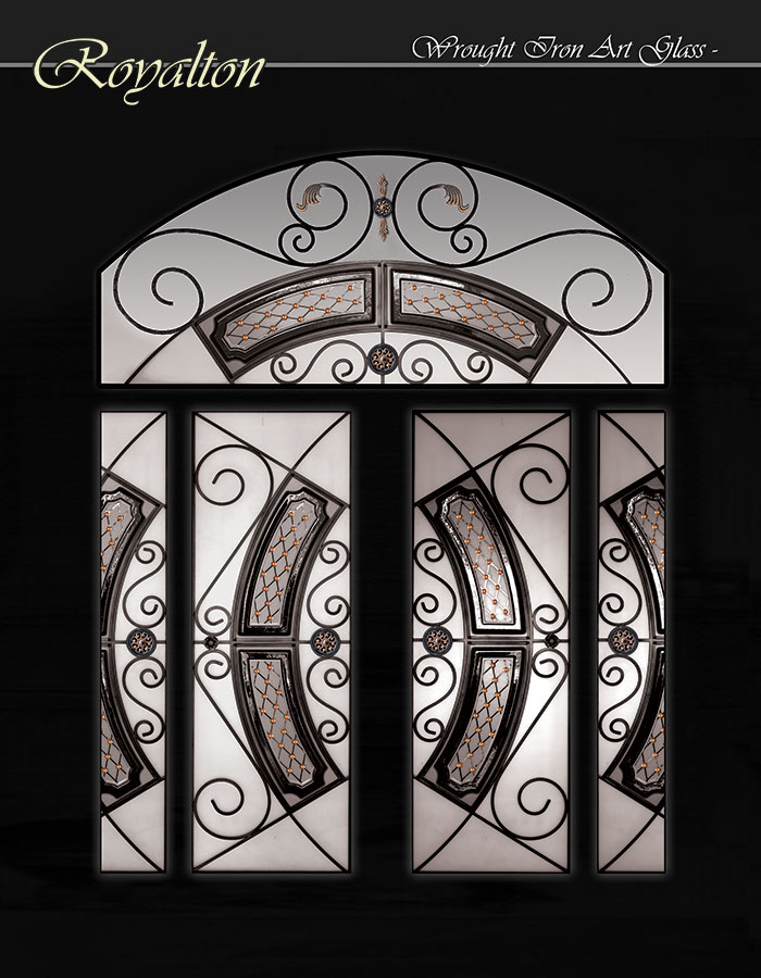 Royalton Design Stainless Steel and Wrought Iron Design with Arched Art Transom by Windows and Doors Toronto