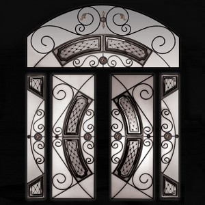 Royalton Design Stainless Steel and Wrought Iron Design with Arched Transom by Windows and Doors Toronto