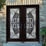 Stainless Steel Elegance Design and Wrought Iron Fiberglass Doors with Stained Glass by Windows and Doors Toronto