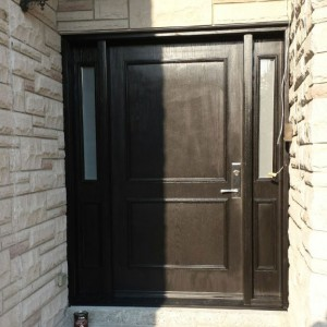 Fiberglass Executive Doors with 2 side lites