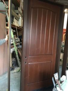 Rustic Fiberglass Door- Arched Fiberglass Door with mult point locks during Manufacturing