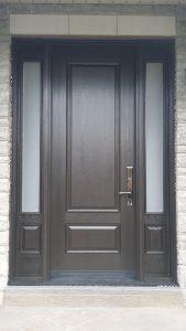Fiberglass 2 Panel Door with 2 side lite-Fiberglass Executive door with Multi Point Locks