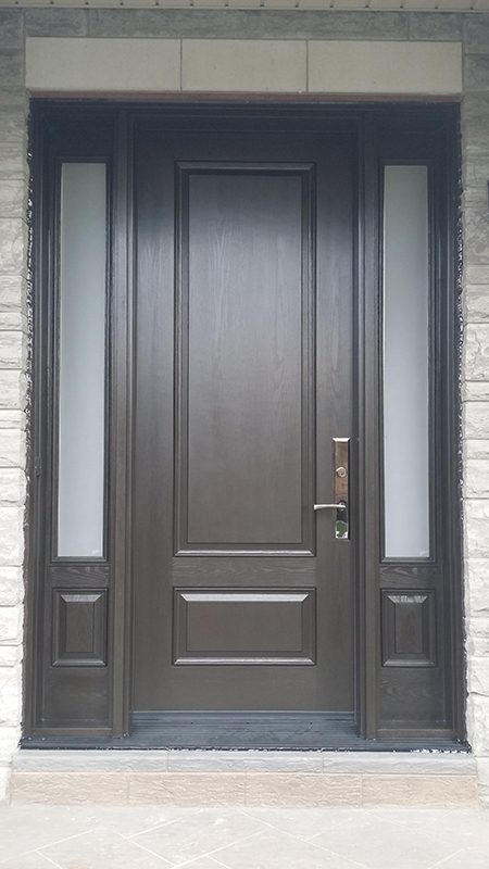Fiberglass 2 Panel Door with 2 side lite-Fiberglass Executive door with Multi Point Locks