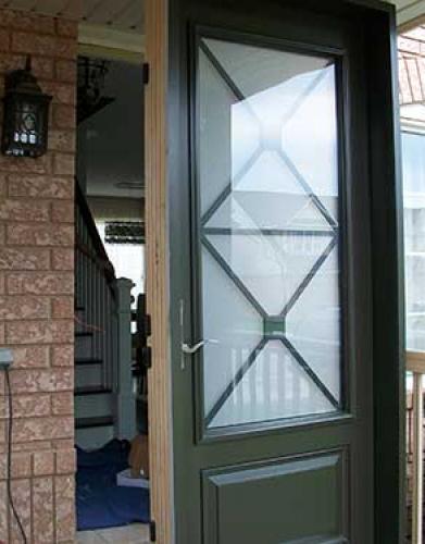 Windows and Doors Toronto-Smooth Fiberglass Doors-3 Quarter Smooth Door-Excalibur Design installed by Windows and Doors Toronto