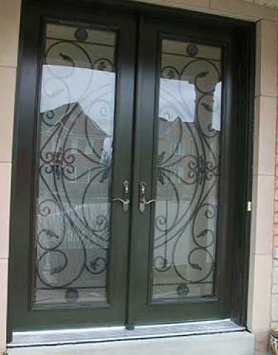Windows and Doors Toronto-Smooth Fiberglass Doors-Julietta Smooth Doors installed in Richmond Hill by Windows and Doors Toronto
