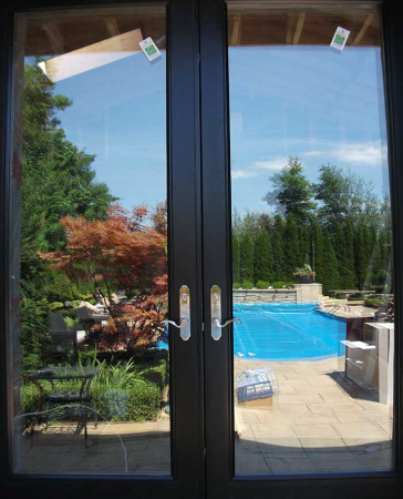 Windows and Doors Toronto-Fiberglass Doors-8 Foot Doors-Back-Yard-French-Doors-with-Multi-Point-Locks-Installed- by Windows and Doors Toronto in-Richmond hill