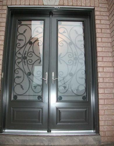 Windows and Doors Toronto-8 Foot Door-Double-Milan-Design-front-Door-with-Multi-Point-Locks-installed- by Windows and Doors Toronto in-Mississauga