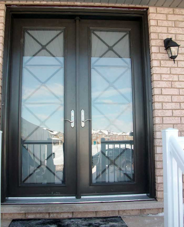 Windows and Doors Toronto-Fiberglass Doors-8 Foot Doors-8-Foot-Double-Front-Door-with-Multi-Point-Locks-Installed- by Windows and Doors Toronto in-Vaughan