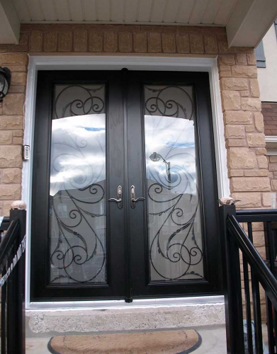 Windows and Doors Toronto-Fiberglass Doors-8 Foot Doors-Fiberglass-Double-Milan-Design-front-Door-with-Multi-Point-Locks-installed- by Windows and Doors Toronto