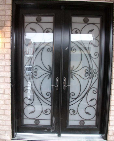 Windows and Doors Toronto-Fiberglass Doors-8 Foot Doors-Fiberglass-Double-front-Doors-Milan-Design-with-Multi-Point-Locks-Installed in Richmond Hill by Windows and Doors Toronto