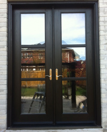 Fiberglass Doors-8 Foot Doors-8 Foot Fiberglass Frech Doors installed by Windows and Doors Toronto in Oakville