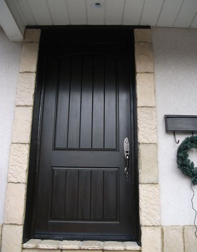 Windows and Dooors Toronto-Rustic Doors-Fiberglass Rustic Doors-Single Rustic Fiberglass Single Door Installed by Windows and Doors Toronto in Woodbridge