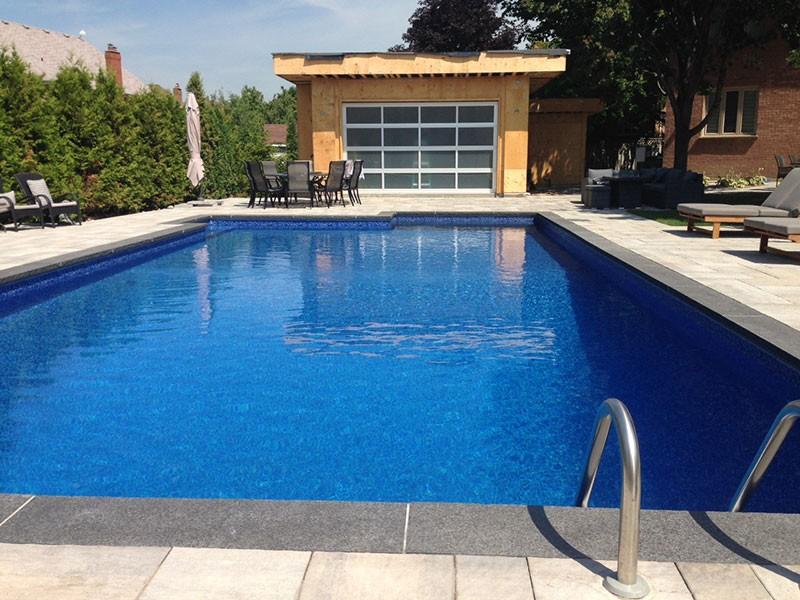 Aluminum Modern-garage-door-for-a-pool-Cabana-installed-by-Windows and doors Toronto