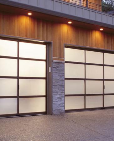 Windows and Doors Toronto-Aluminum and Glass Garage Doors Installation by 8 Foot Fiberglass Garage Door- installed by Windows and Doors Toronto in Richmond Hill
