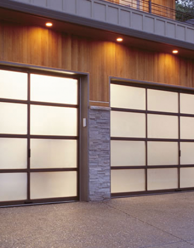 Windows and Doors Toronto-Aluminum and Glass Garage Doors Installation by 8 Foot Fiberglass Garage Door- installed by Windows and Doors Toronto in Richmond Hill