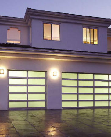 Aluminum and Glass Garage Doors -8 Foot Fiberglass Garage Doors-installed by Windows and Doors Toronto in Thornhill