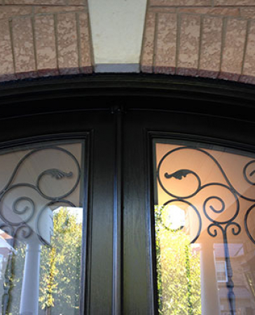 Arched Design Fiberglass Doors-Entry Front Doors installed in Richmond Hill by-Windows And Doors Toronto