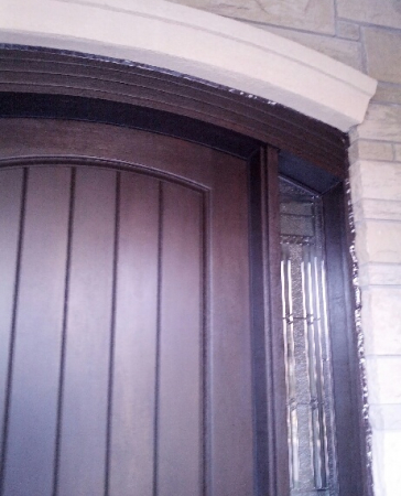Arched Fiberglass Doors-Front Entry Doors-Arched Fiberglass Door-Rustic Fiberglass Door installed by windowsanddoorstoronto.ca in Vaughan