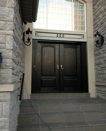 Windows and Doors Toronto-Custom Front Doors-Custom Fiberglass Doors-Custom Fiberglass Doors installed in Oakville by windowsanddoorstoronto.ca