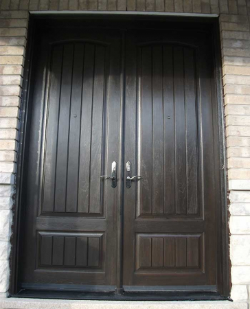 Executive Doors-Front Entry Doors-Fiberglass Doors-Executive Doors Double Solid Fiberglass Parliament Front Door with multi Point Locks Installed in King City Ontario