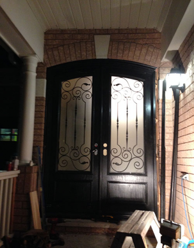 Arched Fiberglass Doors-Front Entry Doors-Fiberglass Arch Doors installed in Richmond Hill