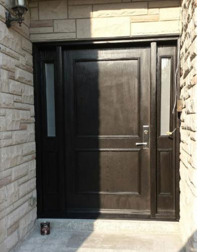 Fiberglass Executive Doors with 2 side lites