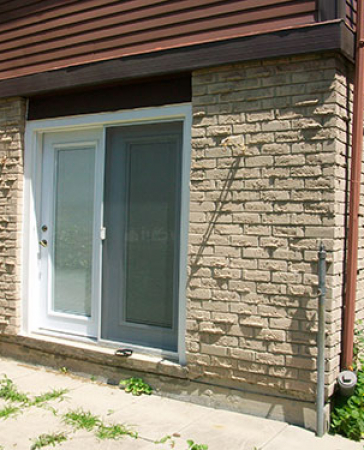 Installation of a garden door in Burlington by Windows and Doors Toronto