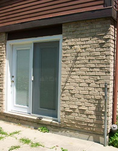 Installation of a garden door in Burlington by Windows and Doors Toronto
