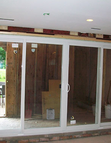 Installation of oversized Patio Doors and Windows in Etobicoke by windows and doors toronto