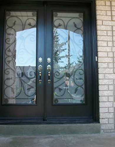 Windows and Doors Toronto-Smooth Fiberglass Doors-Jullietta Smooth Doors with Multi Points locks installed by Windows and Doors Toronto