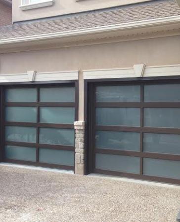 Modern Garage Doors-Aluminium Garage Doors with Door Lites installed in Toronto