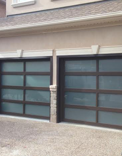 Modern Garage Doors-Aluminium Garage Doors with Door Lites installed in Toronto