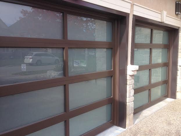 Modern Garage Doors with Door Lites installed in Toronto by modern-doors.ca