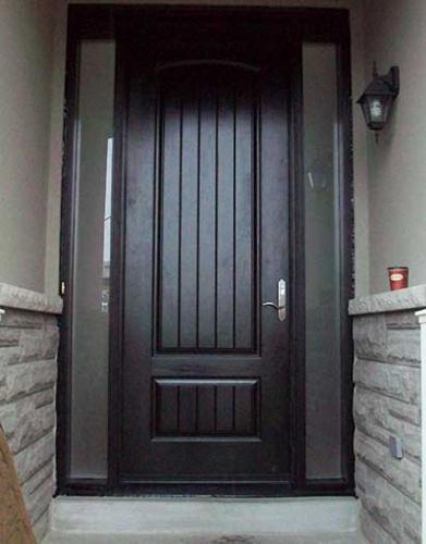 Windows and Dooors Toronto-Rustic Doors-Fiberglass Rustic Doors-Stain Spainsh Oak In & Out installed  by Windows and Doors Toronto in Vaughan