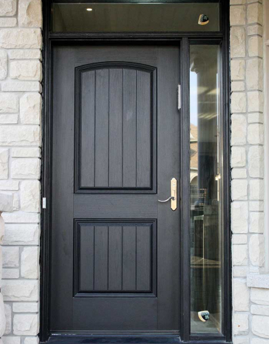 Windows and Doors Toronto-Rustic Doors-Fiberglass Rustic Doors-Rustic Doors Single Solid Door installed  by Windows and Doors Toronto
