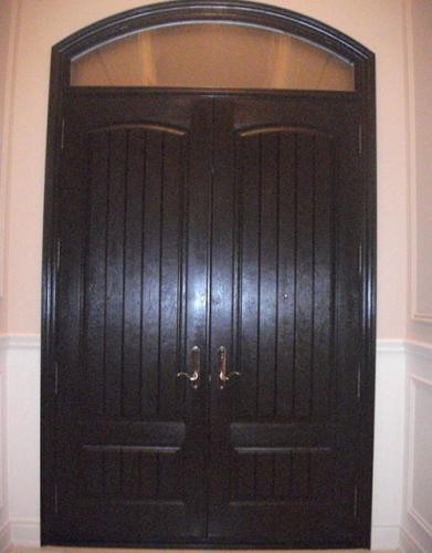 Windows and Doors Toronto-Rustic Doors-Fiberglass Rustic Doors-Rustic Doors with Arch Transom Installed by Windows and Doors Toronto