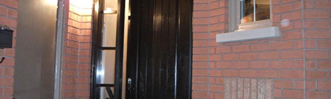 Windows and Doors Toronto-Rustic Doors-Fiberglass Rustic Doors-Rustic Doors with Side Lite and Transom Installed by Windows and Doors Toronto