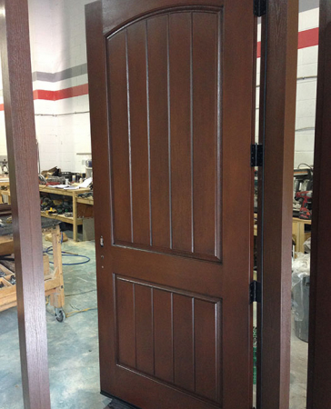 Rustic Fiberglass Exterior Door during Manufacturing by  Windows and Doors Toronto