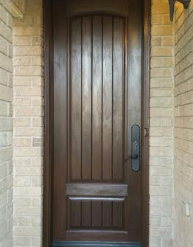 Rustic Fiberglass Exterior 2 Panel Door installed in Woodbridge by Windows and Doors Toronto