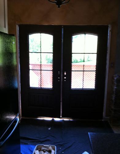 Windows and Doors Toronto-Rustic Doors-Fiberglass Rustic Doors-Rustic French Doors with Iron Arts-Installed by Windows and Doors Toronto