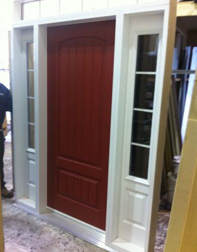 Windows and Doors Toronto-Rustic Doors-Fiberglass Rustic Doors-Rustic Single Door with 2 Side Lites by Windows and Doors Toronto