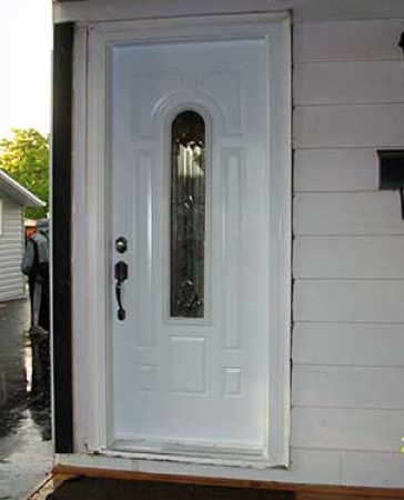 Windows and Doors Toronto-Smooth Fiberglass Doors-Smooth Door-8 Panel with Multi Point Locks installed by Windows and Doors Toronto